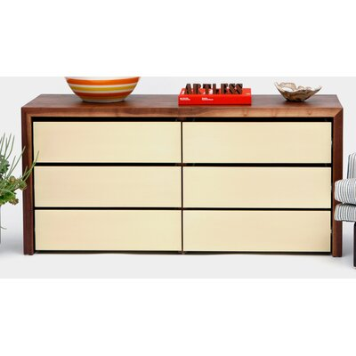 SQM 6 Drawer Dresser Color: Gold