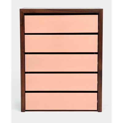 SQM 5 Drawers Chest Color: Rose Gold