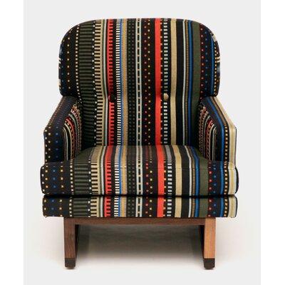 Melinda Armchair Upholstery Color: Black Stripe