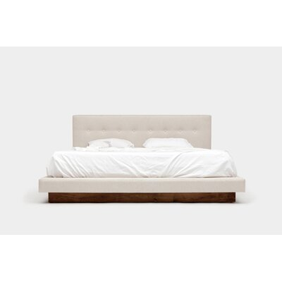 Upholstered Platform Bed Size: King, Color: CrFme