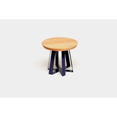 ARS End Table Base Color: Purple, Top Color: Oak