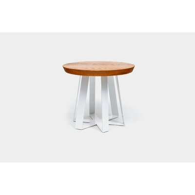 ARS End Table Base Color: White, Top Color: Oak