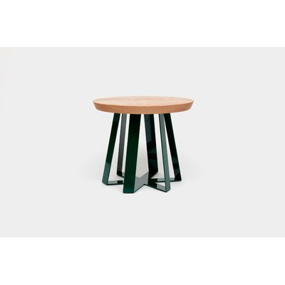 ARS End Table Base Color: Green, Top Color: Oak