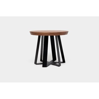 ARS End Table Base Color: Black, Top Color: Walnut