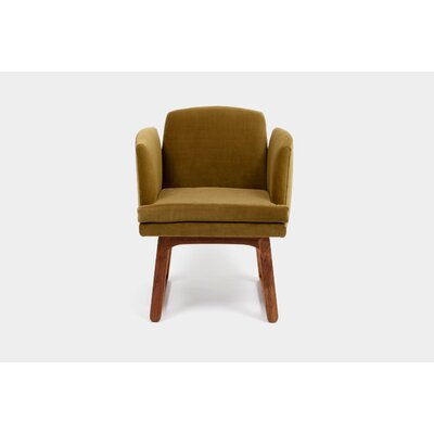 Allison Sled Base Arm Chair Upholstery Color: Bramble
