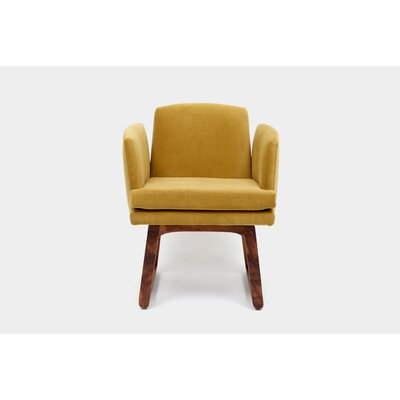 Allison Sled Base Upholstered Dining Chair Upholstery Color: Citron