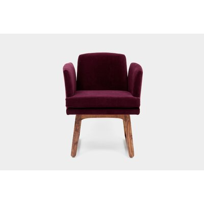Allison Sled Base Arm Chair Upholstery Color: Eggplant