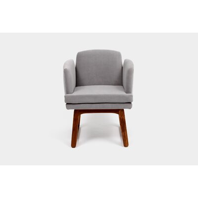 Allison Sled Base Arm Chair Upholstery Color: Fog
