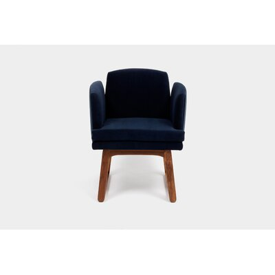 Allison Sled Base Arm Chair Upholstery Color: Deep Blue