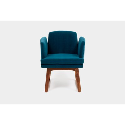 Allison Sled Base Upholstered Dining Chair Upholstery Color: Peacock