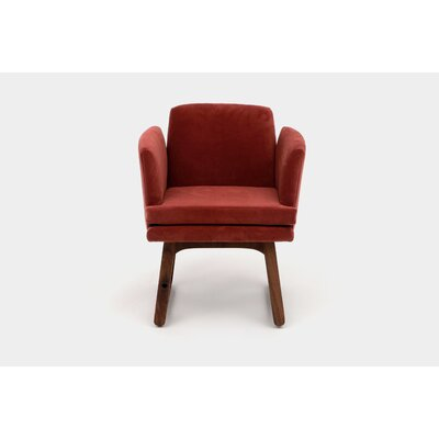 Allison Sled Base Arm Chair Upholstery Color: Paprika