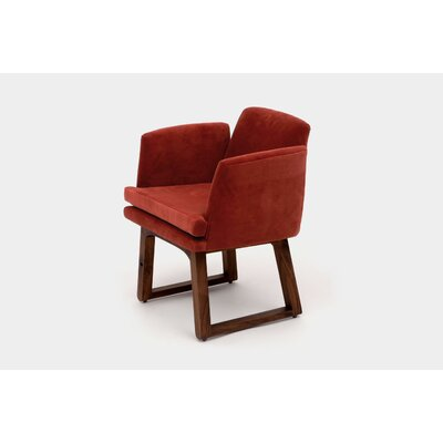 Allison Sled Base Upholstered Dining Chair Upholstery Color: Paprika