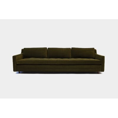 Up Three Seater Standard Sofa Upholstery: Aged Velvet Forest