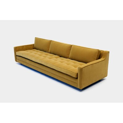 Up Three Seater Standard Sofa Upholstery: Petrol Linen Blend