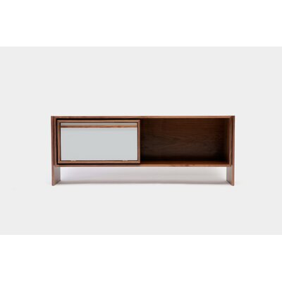 Low 58-94 TV Stand Size: Small, Color: Grey Door