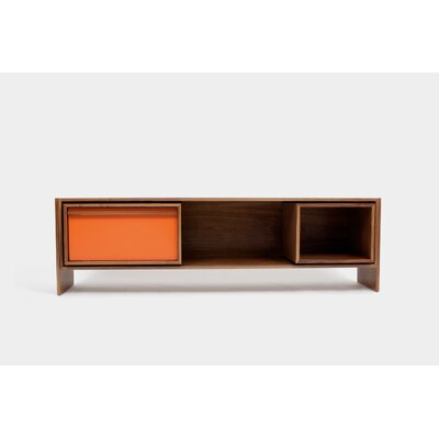 Low 58-94 TV Stand Color: Orange Door, Size: Medium