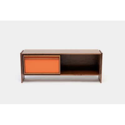 Low 58-94 TV Stand Size: Medium, Color: Orange Door