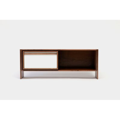 Low 58-94 TV Stand Size: Medium, Color: White Door