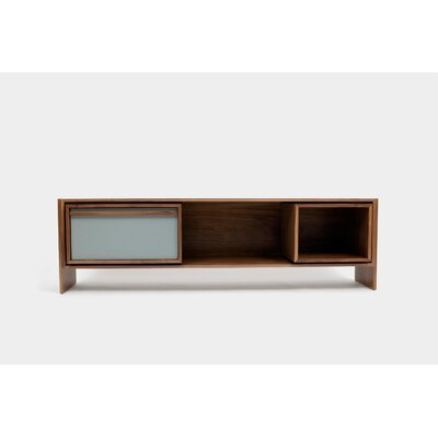 Low 58-94 TV Stand Color: Battle Ship Grey Door, Size: Medium