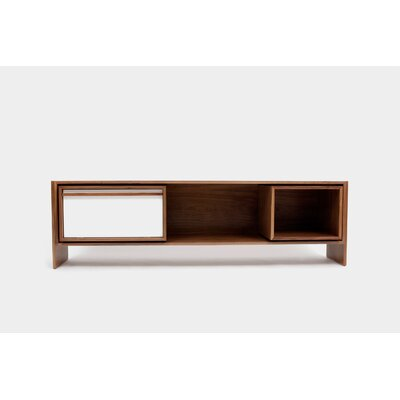Low 58-94 TV Stand Color: White Door, Size: Medium