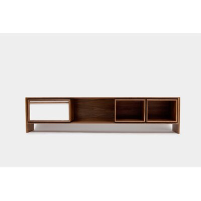Low 58-94 TV Stand Color: White Door, Size: Large