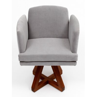 Allison Swivel Base Arm Chair Upholstery: Fog