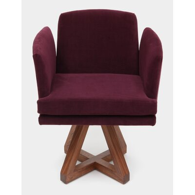 Allison Swivel Base Arm Chair Upholstery: Eggplant