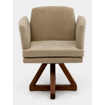 Allison Swivel Base Upholstered Dining Chair Upholstery: Taupe