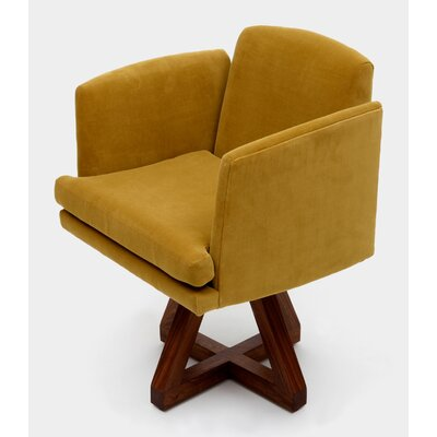 Allison Swivel Base Arm Chair Upholstery: Citron
