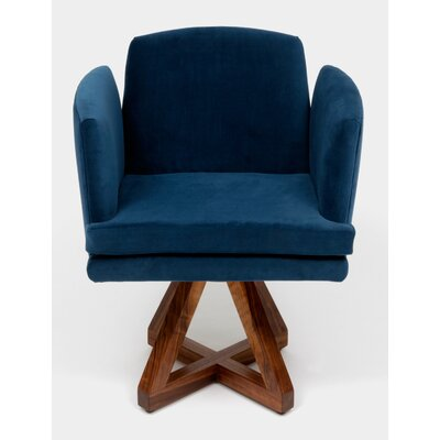 Allison Swivel Base Upholstered Dining Chair Upholstery: Admiral