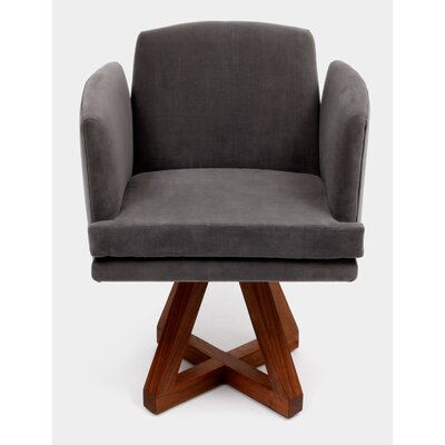 Allison Swivel Base Arm Chair Upholstery: Flannel
