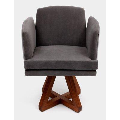 Allison Swivel Base Upholstered Dining Chair Upholstery: Flannel