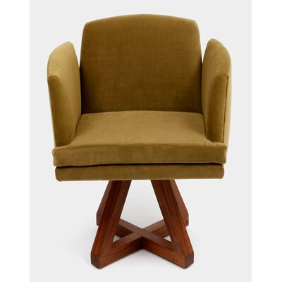 Allison Swivel Base Arm Chair Upholstery: Bramble