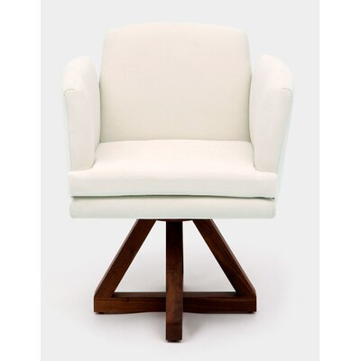 Allison Swivel Base Arm Chair Upholstery: Eggshell