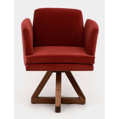 Allison Swivel Base Upholstered Dining Chair Upholstery: Paprika
