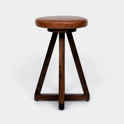 26 Swivel Bar Stool Color: Saddle