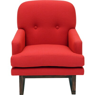 Melinda Armchair Upholstery: Berry Red
