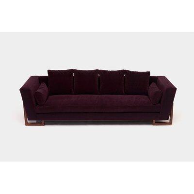 Sofa Upholstery: Eggplant Aged Velvet