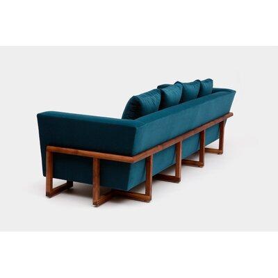 Sofa Upholstery: Peacock Aged Velvet