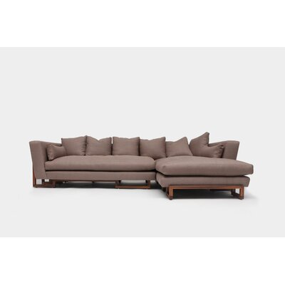 Sectional Orientation: Left Hand Facing, Upholstery: Taupe Aged Velvet
