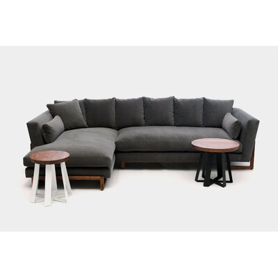 Sectional Upholstery: Charcoal Natural, Orientation: Left Hand Facing