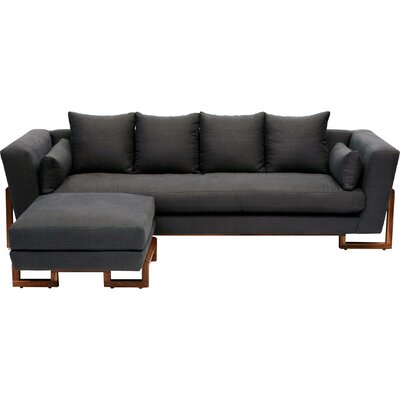 LRG Sofa Upholstery: Charcoal Linen