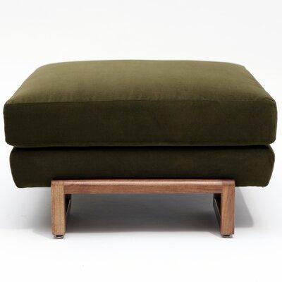LRG Ottoman Color: Forest Green, Upholstery: Velvet