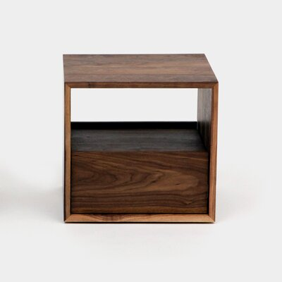 THN 1 Drawer Nightstand Color: Walnut, Drawer Location: Bottom