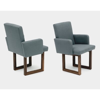 C2W Upholstered Dining Chair Upholstery: Petrol