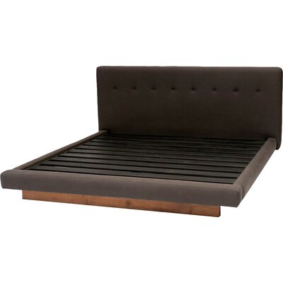 Upholstered Platform Bed Size: King, Color: Driftwood
