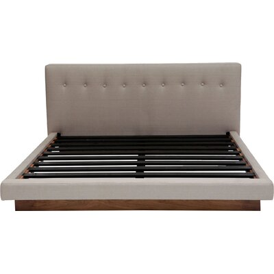 Upholstered Platform Bed Size: Queen, Color: Metal