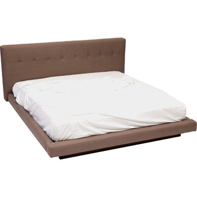 Upholstered Platform Bed Size: King, Color: Earth