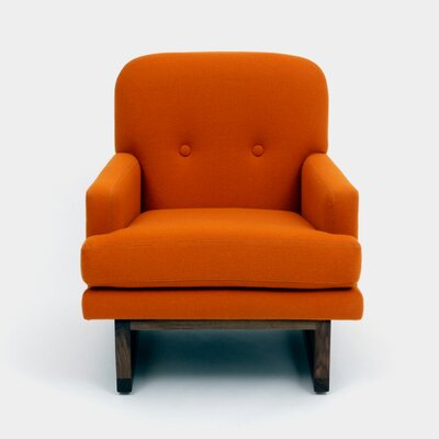 Melinda Arm Chair Color: Burnt Orange