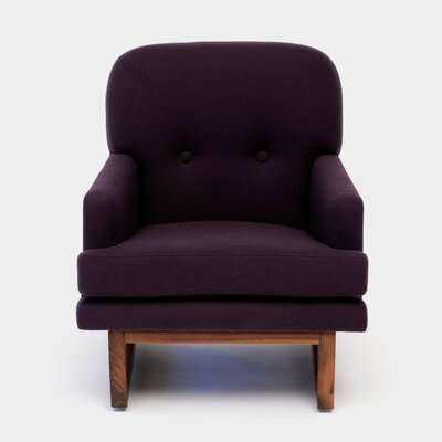 Melinda Armchair Color: Eggplant